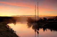 Misty dawn over the Crinan Canal at Cairnbaan near Lochgilphead, Argyll & Bute<br /> <br /> Copyright www.scottishhorizons.co.uk/Keith Fergus 2011 All Rights Reserved