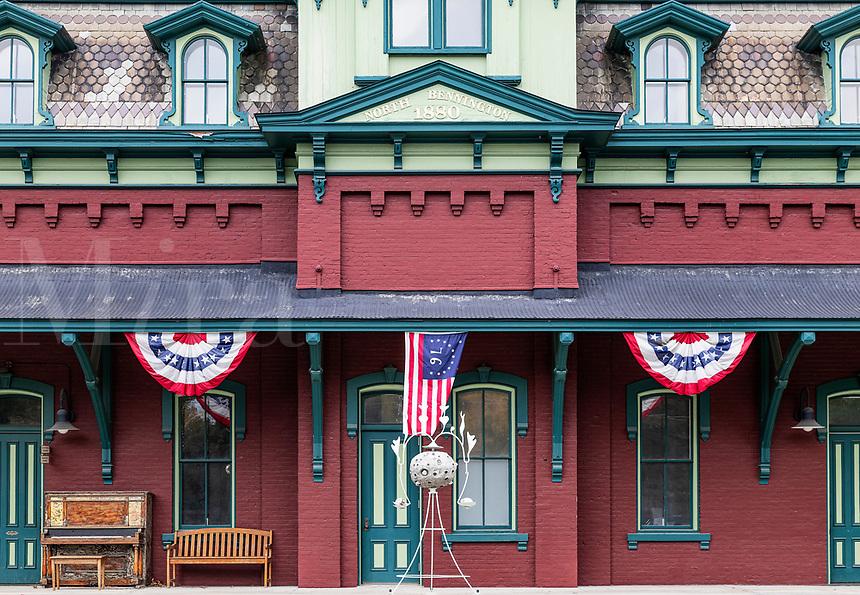 Historic North Bennington train station, Bennington, Vermont, USA.