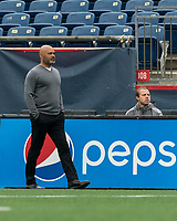 FOXBOROUGH, UNITED STATES - MAY 28: New England Revolution II coach Clint Peay during a game between Fort Lauderdale CF and New England Revolution II at Gillette Stadium on May 28, 2021 in Foxborough, Massachusetts.