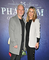 """Chris Moyles and partner at the """"The Phantom Of The Opera"""" 35th anniversary gala performance, Her Majesty's Theatre, Haymarket, on Monday 11th October 2021, in London, England, UK. <br /> CAP/CAN<br /> ©CAN/Capital Pictures"""
