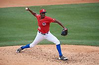 Buffalo Bisons relief pitcher Carlos Ramirez (40) delivers a pitch during a game against the Indianapolis Indians on August 17, 2017 at Coca-Cola Field in Buffalo, New York.  Buffalo defeated Indianapolis 4-1.  (Mike Janes/Four Seam Images)