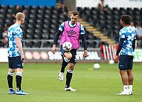 25th September 2021; Swansea.com Stadium, Swansea, Wales; EFL Championship football, Swansea versus Huddersfield; Harry Toffolo of Huddersfield Town controls the ball during warm up