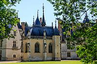 France, Cher, Berry, Route Jacques Coeur, Chateau de Meillant, the chapel // France, Cher (18), Berry, Route Jacques Coeur, Meillant, château de Meillant, la chapelle