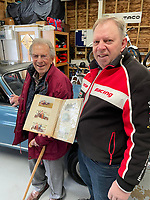 BNPS.co.uk (01202) 558833. <br /> Pic: AndrewLast/BNPS<br /> <br /> Pictured: Fred Last with son Andrew, the Capri and photos of the car the first time he owned it. <br /> <br /> Pensioner Fred Last has bought back his beloved Ford Capri more than 20 years after he sold it.<br /> <br /> Fred, 92, bought the Mark One Capri from new in 1971 and it was his pride and joy for almost three decades.<br /> <br /> He regularly used the vehicle for family holidays and day trips before selling it in 1999, once his children had grown up.