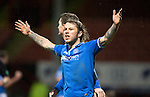Partick Thistle v St Johnstone....21.01.14   SPFL<br /> Stevie May celebrates his goal with Gary McDonald<br /> Picture by Graeme Hart.<br /> Copyright Perthshire Picture Agency<br /> Tel: 01738 623350  Mobile: 07990 594431