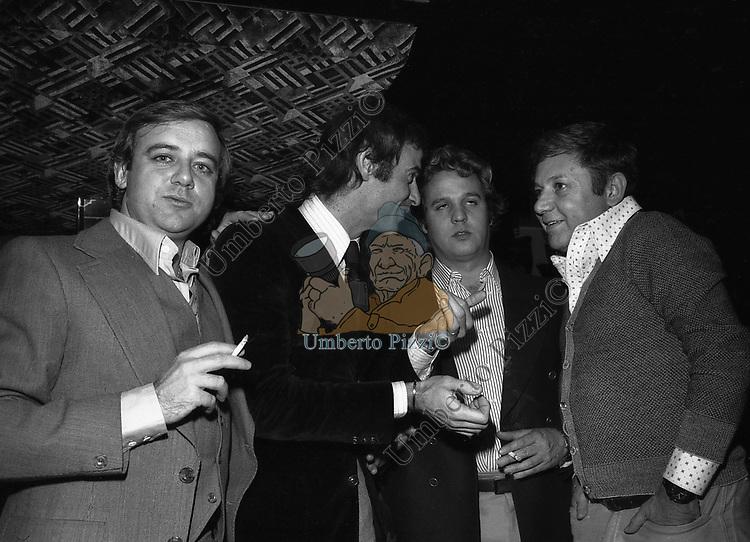 RENATO POZZETTO CON COCHI PONZONI E PAOLO VILLAGGIO JACKIE O' 1975