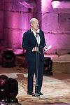 The president Antonio Resines talks during 2015 Theater Ceres Awards ceremony at Merida, Spain, August 27, 2015. <br /> (ALTERPHOTOS/BorjaB.Hojas)