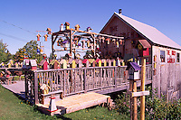 "Edgetts Landing, New Brunswick, Canada - Folk Art Birdhouses for Sale at ""The Bird Garden"" near the Bay of Fundy"