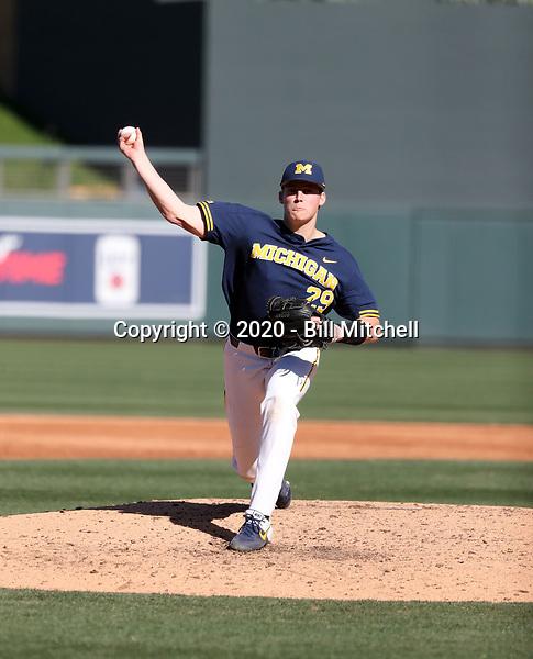 Blake Beers - 2020 Michigan Wolverines (Bill Mitchell)