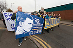Everton 2 Wolves 1, 19/11/2011. Goodison Park, Premier League. March by The Blue Union, before the game, calling for Bill Kenwright to step down. Photo by Paul Thompson.