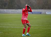 8th November 2020; SkyEx Community Stadium, London, England; Football Association Cup, Hayes and Yeading United versus Carlisle United; Keano Robinson of Hayes & Yeading United reacting after his shot was saved during the penalty shoot out