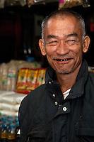 Myanmar, Burma.  Mandalay.  Drinks and Foodstuffs Vendor.