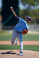 Tampa Bay Rays pitcher Jhonleider Salinas (64) during a Minor League Spring Training game against the Minnesota Twins on March 17, 2018 at CenturyLink Sports Complex in Fort Myers, Florida.  (Mike Janes/Four Seam Images)