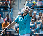 August 19,2017:   John Isner (USA) loses to Grigor Dimitrov (BUL) 7-6, 7-6, at the Western & Southern Open being played at Lindner Family Tennis Center in Mason, Ohio.  ©Leslie Billman/Tennisclix