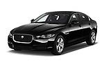 2018 Jaguar XE Base 4 Door Sedan angular front stock photos of front three quarter view