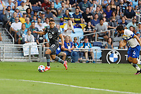 SAINT PAUL, MN - JULY 3: Hassani Dotson #31 of Minnesota United FC during a game between San Jose Earthquakes and Minnesota United FC at Allianz Field on July 3, 2021 in Saint Paul, Minnesota.