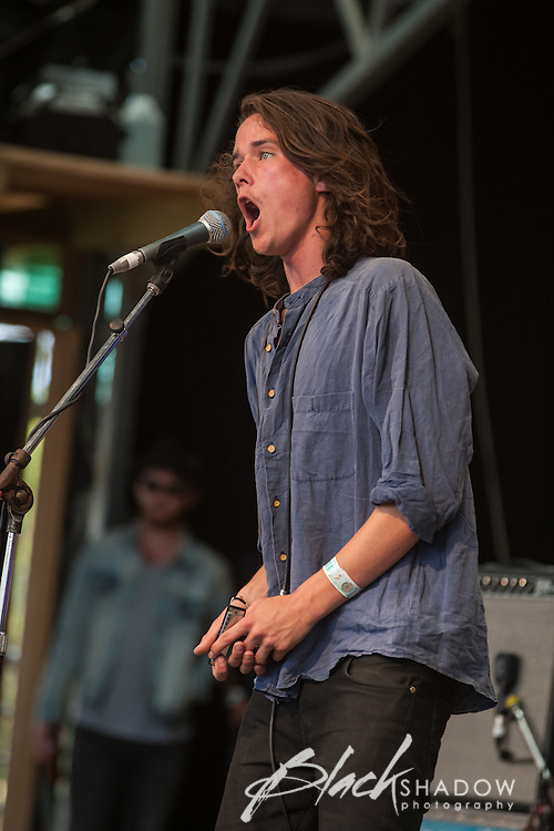 The Murlocs performing at Meredith Music Festival 2012 held at the Meredith Supernatural Ampitheatre, 7-9 December 2012