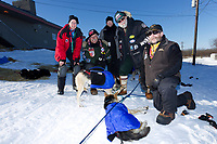 Volunteer vets gather for a group photo at the Shageluk village checkpoint during the 2011 Iditarod race.