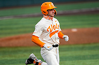 Tennessee Volunteers left fielder Evan Russell (6) in action against the LSU Tigers on Robert M. Lindsay Field at Lindsey Nelson Stadium on March 28, 2021, in Knoxville, Tennessee. (Danny Parker/Four Seam Images)