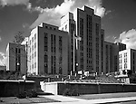 Pittsburgh PA:  Municipal Hospital in the Oakland section of Pittsburgh.  The main structure of Salk Hall is the former city-owned Pittsburgh Municipal Hospital for Contagious Diseases constructed in 1941 on land the university had given to the city.