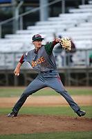 Garrett Schilling (39) of the Boise Hawks pitches against the Everett AquaSox at Everett Memorial Stadium on July 21, 2017 in Everett, Washington. Boise defeated Everett, 10-4. (Larry Goren/Four Seam Images)