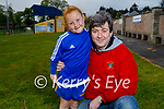 Little Ella May Healy with her dad JP Healy looking forward to their return to Ballymac GAA Juvenile training on Sunday morning.