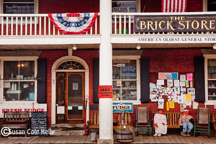 The Brick Store, America' oldest general store, in Bath, White Mountains, NH, USA