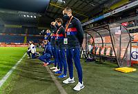 BREDA, NETHERLANDS - NOVEMBER 27: Vlatko Andonovski of the USWNT stands for the national anthem before a game between Netherlands and USWNT at Rat Verlegh Stadion on November 27, 2020 in Breda, Netherlands.