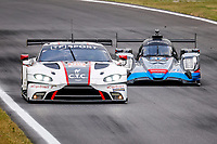 8th July 2021, Monza, Italy;   95 Hartshorne John gbr, Gunn Ross gbr, Hancock Oliver gbr, TF Aston Martin Vantage - AMR during the 2021 4 Hours of Monza practise before the  4th round of the 2021 European Le Mans Series