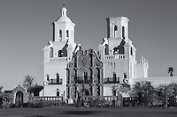 San Xavier del Bac Mission in the Santa Cruz Valley south of Tucson, Arizona.