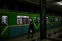 Uzbekistan - Tashkent - A metro station in the city center dedicated to cosmonauts. The metro was built in 1972 and each station can used as a nuclear shelter. Until July 2018 it was forbidden to take pictures.