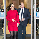 © Joel Goodman - 07973 332324. 06/12/2017 . Manchester , UK . The Duke And Duchess Of Cambridge, Prince William and Kate Middleton, leave the Children's Global Media Summit at the Manchester Central Convention Centre . Photo credit : Joel Goodman