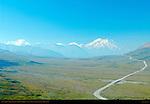 Mount Foraker, Mount Hunter and Mount McKinley, Alaska Range, Denali National Park, Alaska