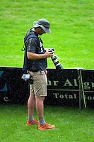 Photographer Mead Norton on day two of the Bayleys National Sevens at Rotorua International Stadium, Rotorua, New Zealand on Sunday, 15 January 2015. Photo: Dave Lintott / lintottphoto.co.nz