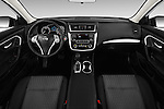 Stock photo of straight dashboard view of 2017 Nissan Altima S 4 Door Sedan Dashboard