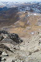 Looking back down the route up to the summit of Wetterhorn