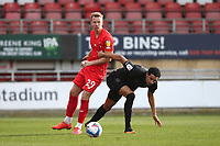 Adam Thompson of Leyton Orient and Kurtis Guthrie of Port Vale during Leyton Orient vs Port Vale, Sky Bet EFL League 2 Football at The Breyer Group Stadium on 20th February 2021
