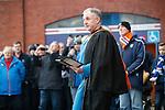 Rangers chaplain Rev Stuart McQuarrie leads the memorial service