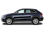 Driver side profile view of a 2012 Audi Q3 SUV.