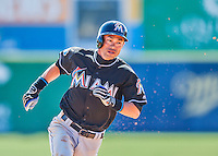 7 March 2016: Miami Marlins outfielder Ichiro Suzuki in action during a Spring Training pre-season game against the Washington Nationals at Space Coast Stadium in Viera, Florida. The Nationals defeated the Marlins 7-4 in Grapefruit League play. Mandatory Credit: Ed Wolfstein Photo *** RAW (NEF) Image File Available ***