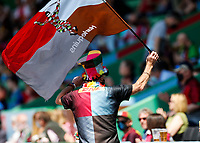 29th May 2021; Twickenham Stoop, London, England; English Premiership Rugby, Harlequins versus Bath; A Mega fan shows his support for Quins