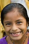 Smiling Mayan village girl in Southern Belize