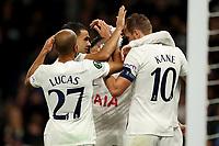 30th September 2021; Tottenham Hotspur Stadium. Tottenham, London, England; UEFA Conference League football, Tottenham v NS Mura: Harry Kane of Tottenham Hotspur celebrates after he scores for 4-1 in the 77th minute