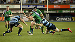 Cardiff Blues' Macauley Cook is tackled by Cardiff Blues' Tom Isaacs<br /> Guiness Pro12<br /> Cardiff Blue v Connacht<br /> BT Sport Cardiff Arms Park<br /> 06.03.15<br /> ©Ian Cook -SPORTINGWALES