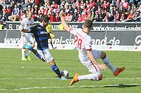 Michael Goerlitz (FSV) gegen Kevin Wimmer (Koeln) - FSV Frankfurt vs. 1. FC Koeln, Frankfurter Volksbank Stadion