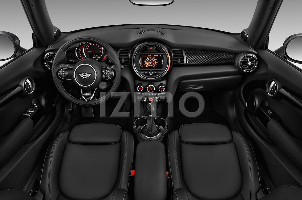 Stock photo of straight dashboard view of 2017 MINI Cooper S 2 Door Convertible Dashboard