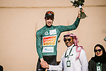 Phil Bauhaus (GER) Bahrain-Mclaren wins the overall general classification at the end of Stage 5 of the Saudi Tour 2020 running 144km from Princess Nourah University to Al Masmak, Saudi Arabia. 8th February 2020. <br /> Picture: ASO/Pauline Ballet | Cyclefile<br /> All photos usage must carry mandatory copyright credit (© Cyclefile | ASO/Pauline Ballet)