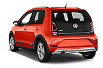 Car pictures of rear three quarter view of a 2018 Volkswagen Up Cross Up 5 Door Hatchback angular rear
