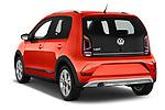 Car pictures of rear three quarter view of a 2018 Volkswagen Up Cross Up 5 Door Hatchback angular rear