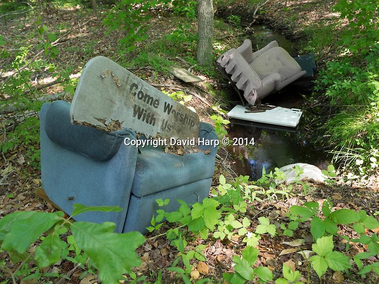 No Christian Ethic here, a dumping site along Tuckahoe Creek